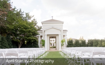 Wedding ceremony at The Celebration Garden in Huntsville Botanical Garden