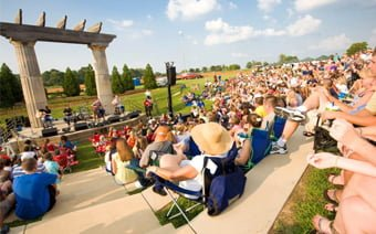 Boeing-Toyota Amphitheater seats 300 at the Huntsville Botanical Garden for corporate events
