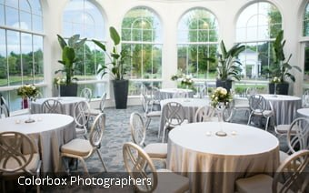 The Conservatory seats 80 at the Huntsville Botanical Garden for corporate events