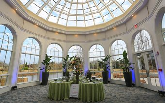 The Conservatory ceiling view at the Huntsville Botanical Garden for corporate events