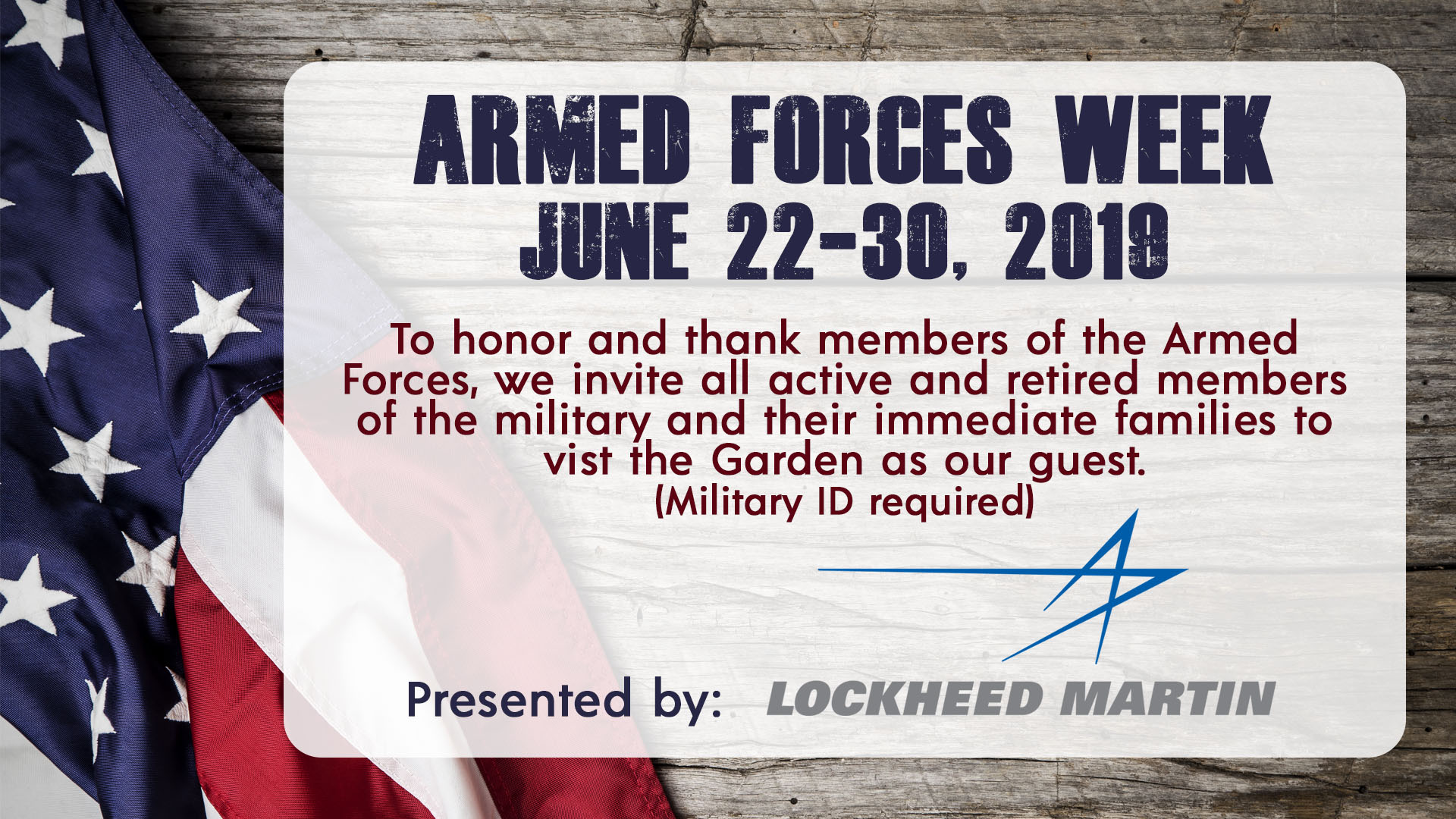 2019 Armed Forces Week